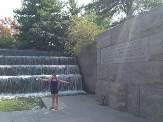 Running to FDR Memorial