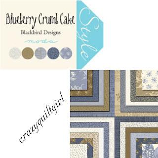 Moda BLUEBERRY CRUMB CAKE Quilt Fabric by Blackbird Designs