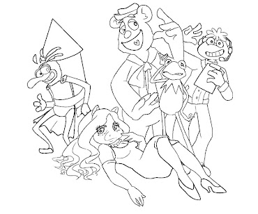 #4 The Muppets Coloring Page