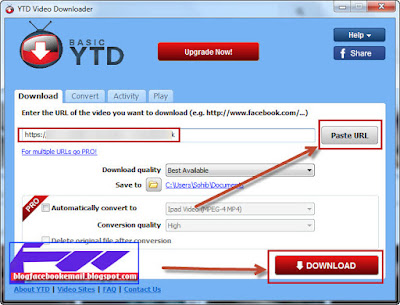 contoh cara mendownload video dengan program software