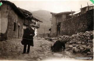 Obras de instalación del alcantarillado y el agua corriente en Candelario Salamanca en 1932