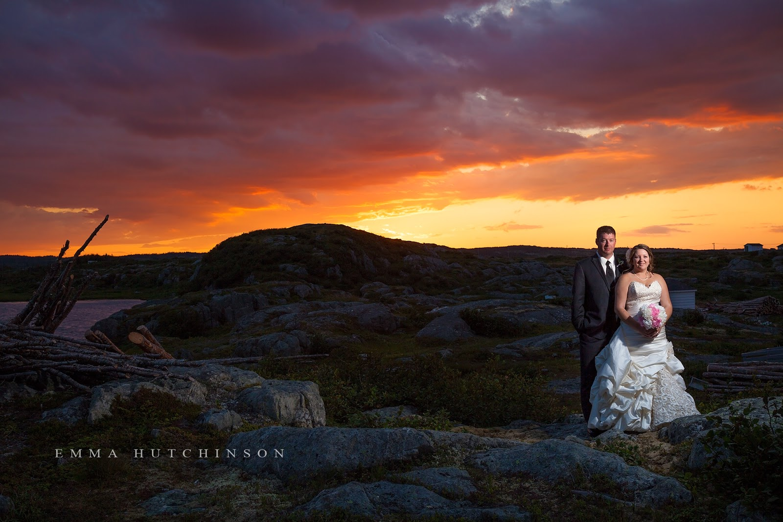 Weddings in Tilting, Fogo Island - amazing sunset in Tilting, NL