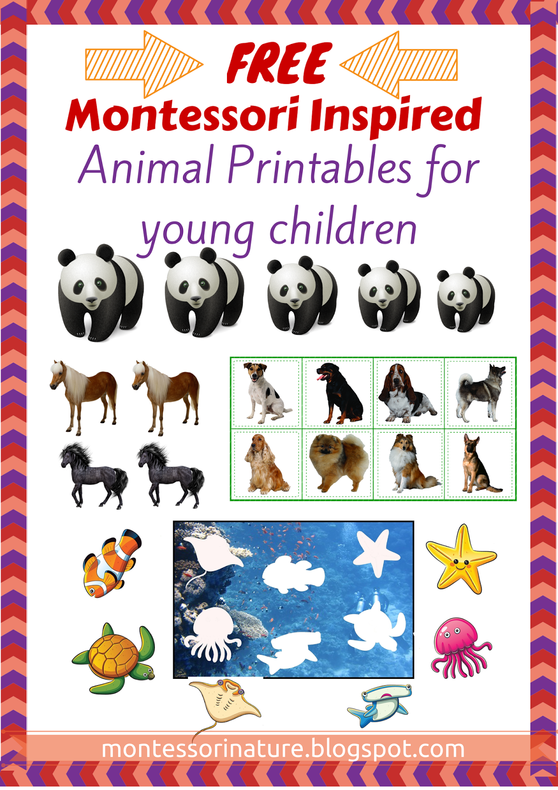 free pre reading printables montessori nature
