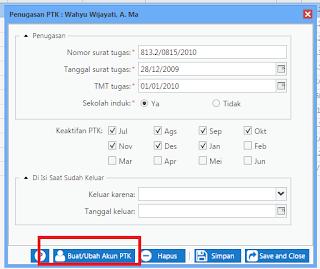 Tambah/Ubah  Akun  PTK  (username/password)  untuk  Akses  Layanan  Kementerian.