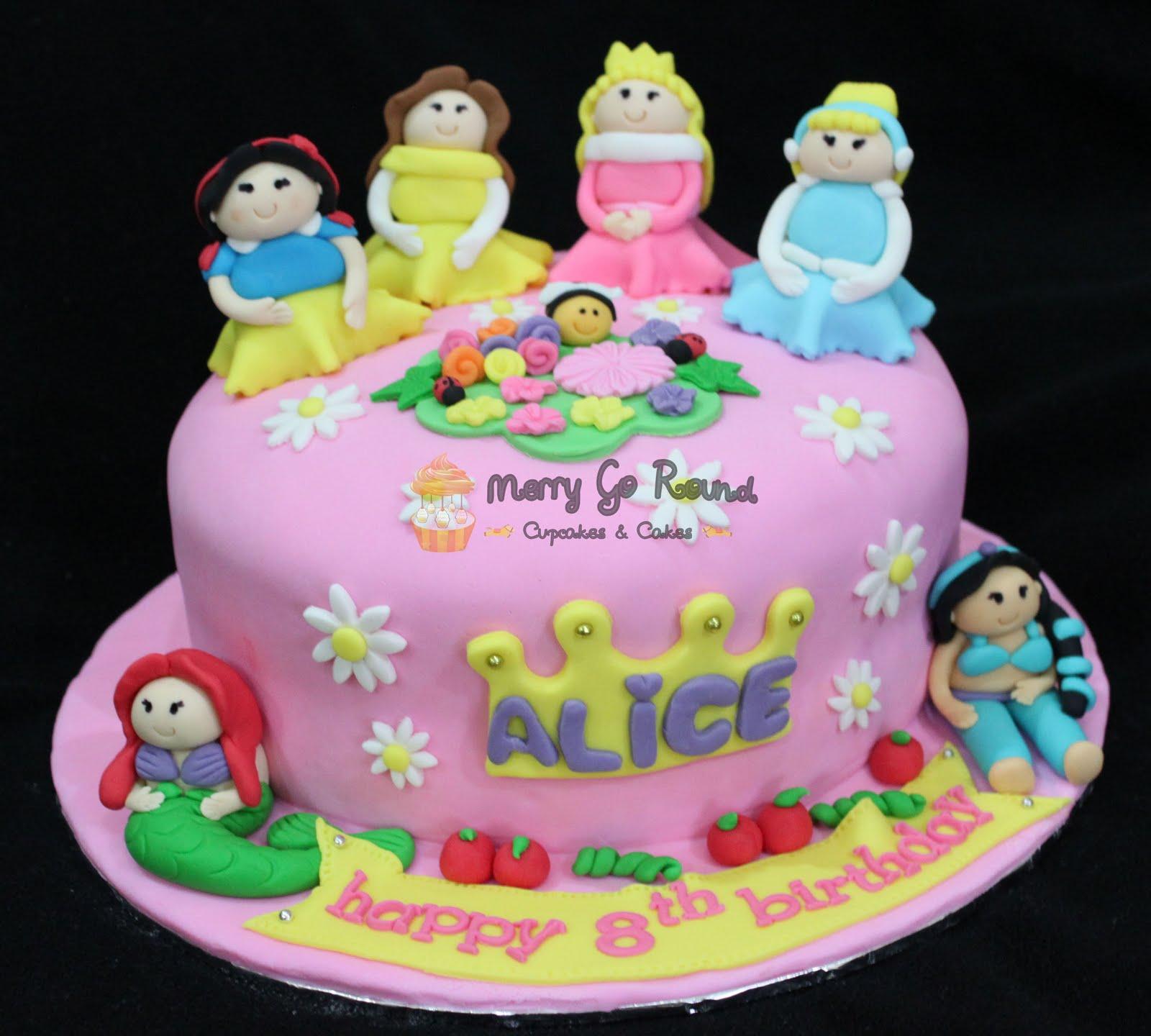 Merry Go Round Cupcakes Cakes Disney Princess Birthday Cake
