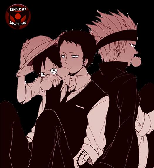 Render Luffy,Law y Kidd + One Piece