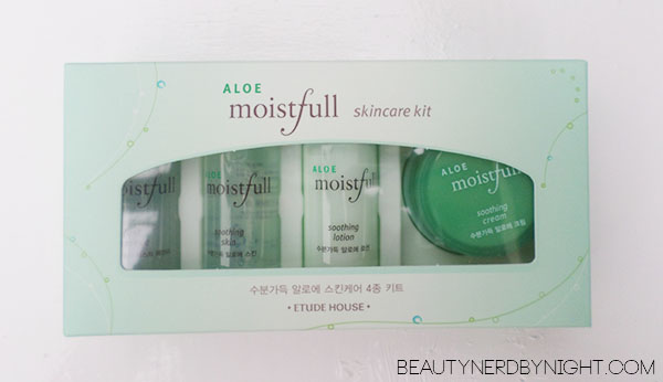 Bag of Love July 2013: Etude House Moistfull Skincare Kit