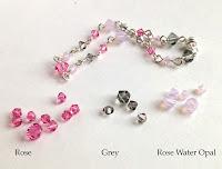 Pink & Grey Swarovski Crystal Link Bracelet