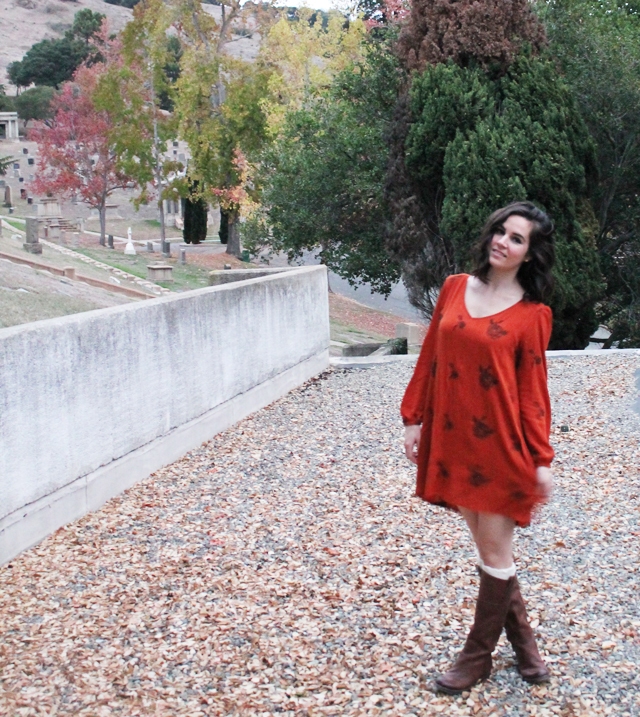 One to Nothin: Fall 70s Dress and Boots