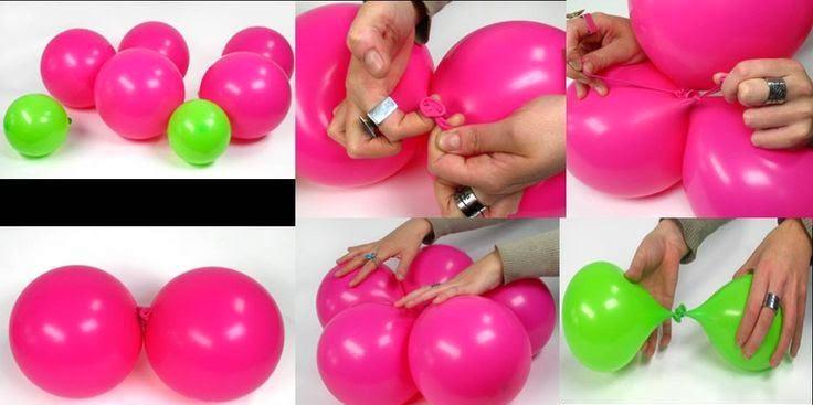 una flor de globos para mi fiesta - Como Hacer Flores Con Globos
