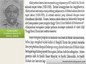 TG Hj Abd. Majid Bin Hj Abd. Karim (Guru Pondok Ku)