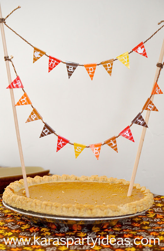 Karas Party Ideas FREE- Mini Cake Pennant Bunting for