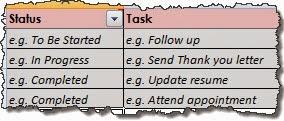 Jobsearch Application Organiser Tracker_Sneak Peek of To Do list