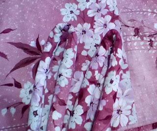 桜柄の鼻緒