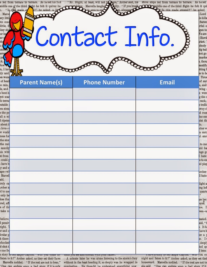 school open house sign in sheet template