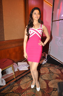 Tamanna Bhatia in cute lovely pink sleeveless gown fresh beauty 031