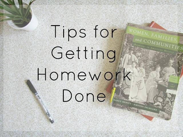 Tips for Getting Homework Done courtneylthings.blogspot.com