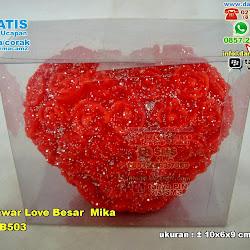 Souvenir Lilin Mawar Love Besar Mika