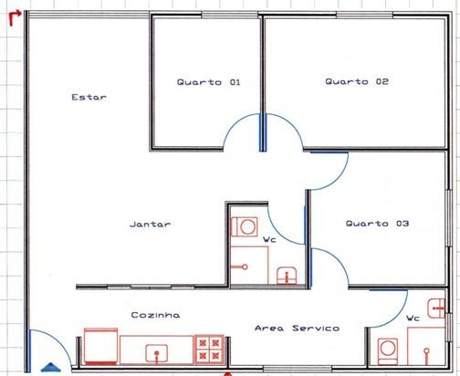 Projetos e plantas de casa plantas de casas for Plantas de casas tipo 3 modernas