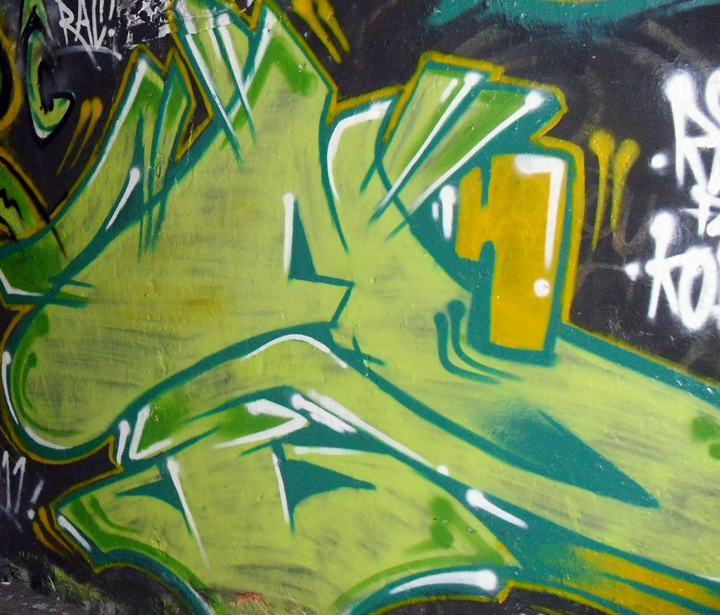 Green Graffiti Letters byJSN