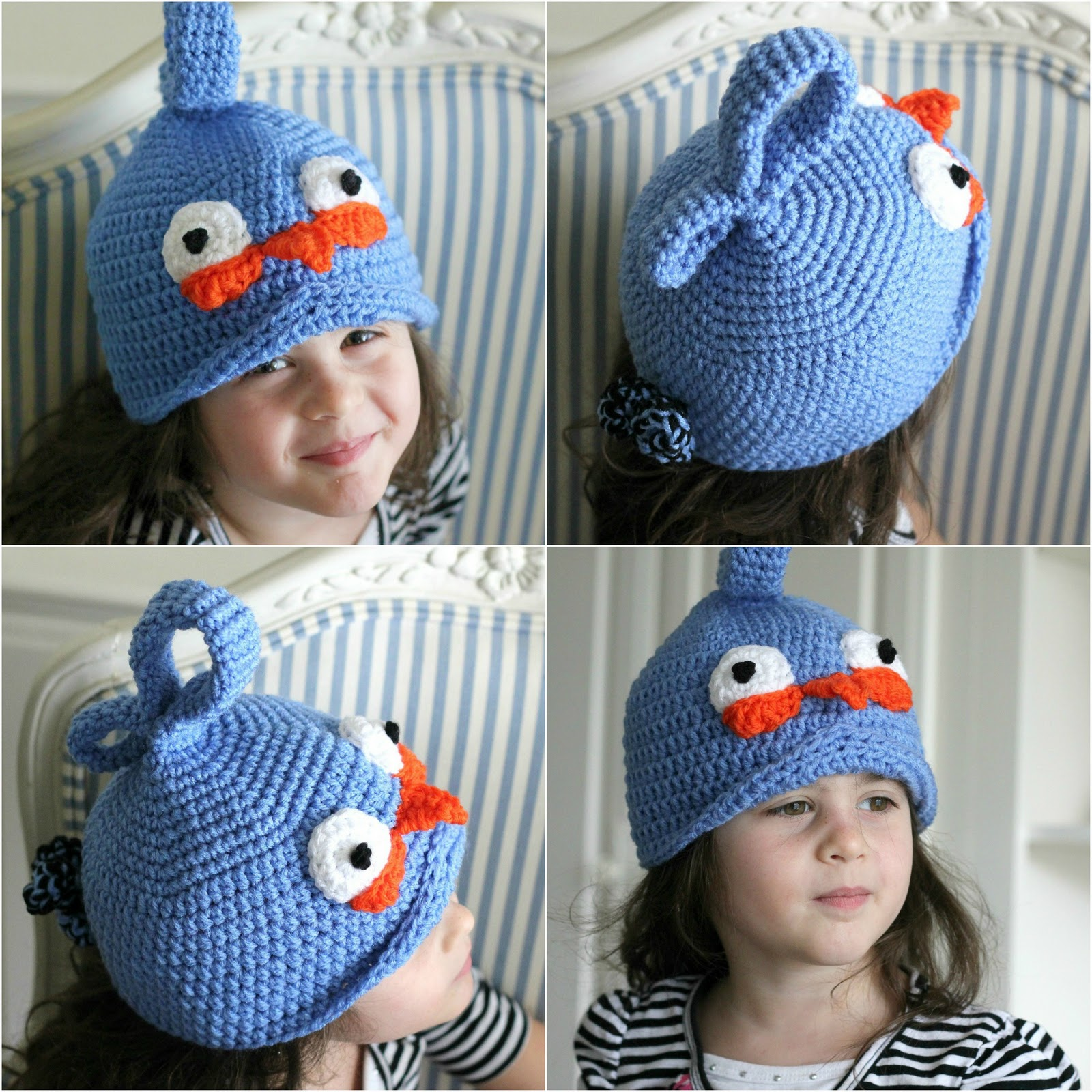 Crochet Hat Pattern Angry Bird : With a Grateful Prayer and a Thankful Heart: Silly Hats
