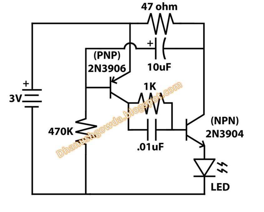 techi yard  automatically blinking led