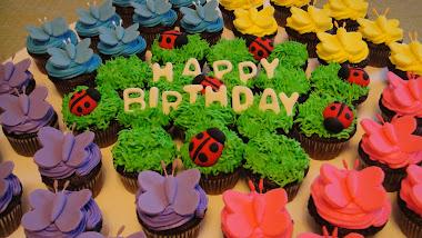 Spring Mini Bday Cupcakes