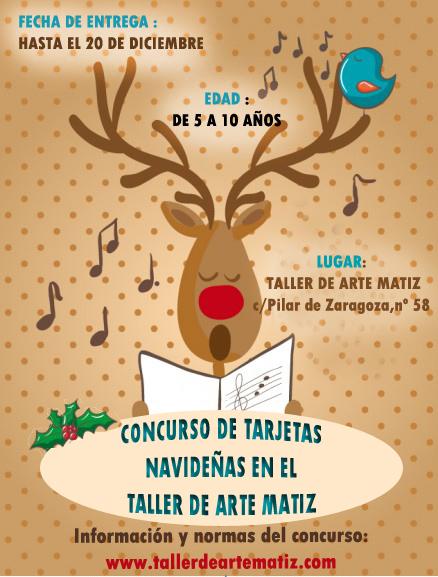 Taller de arte matiz concurso de tarjetas navide as - Dibujos tarjetas navidenas ...