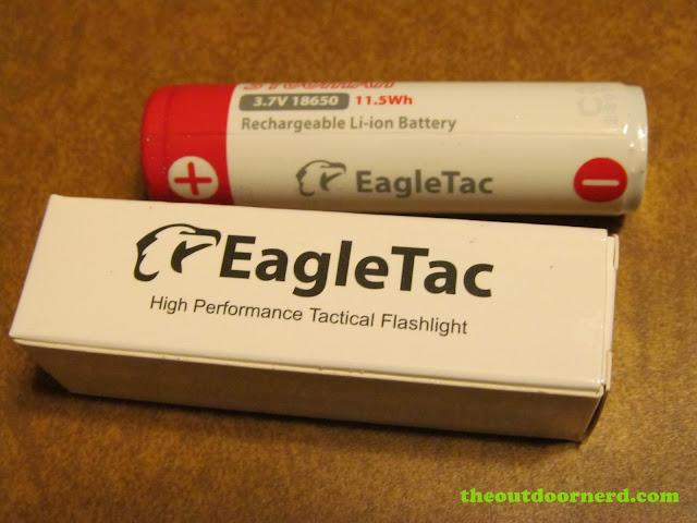 EagleTac 3100 mAh 18650 li-ion battery