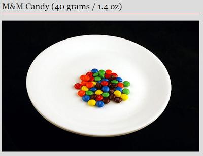M & Ms - 200 calories