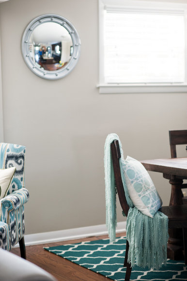 Dining Room Blue and White Rug