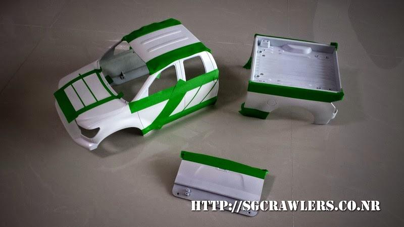 tamiya - Boolean21's Tamiya Highlift Tundra - new paint scheme - Ivan Stewart Toyota Theme 20140731_175215