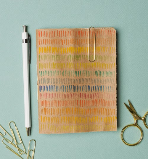 repurposed paper bag journal cover