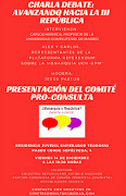 Charla debate: Avanzando hacia la III Republica-Presentación comite Pro-Consulta