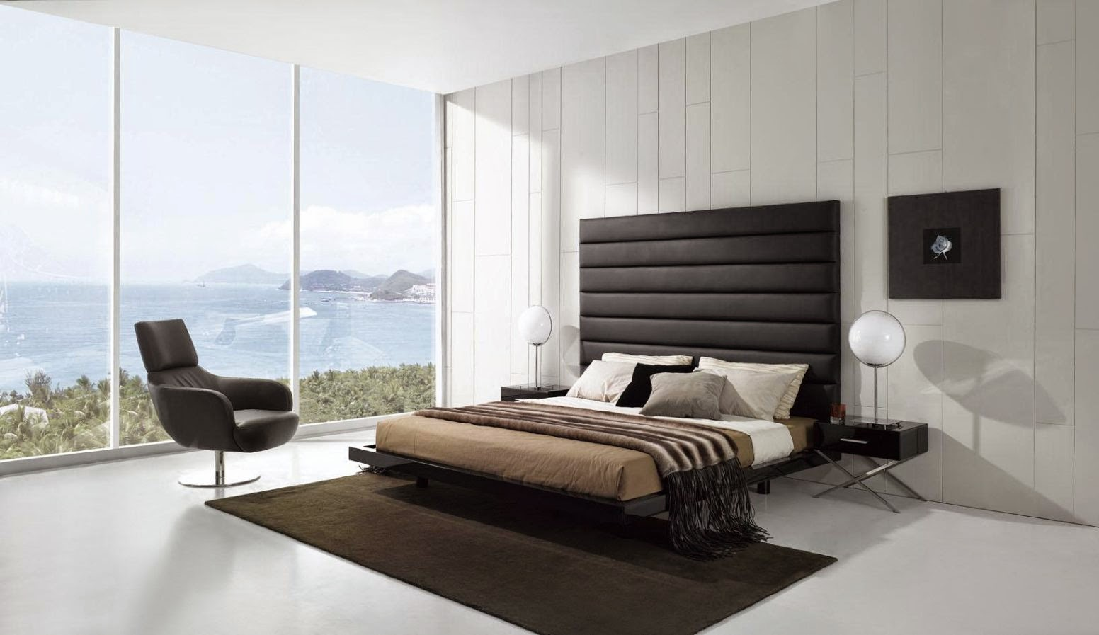 Black white boys bedroom get stylish and masculine impression for Minimalist black and white bedroom