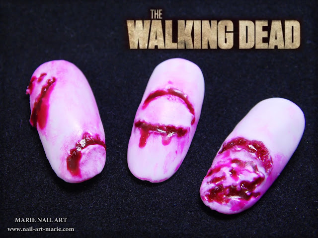 Nail Art The Walking Dead1