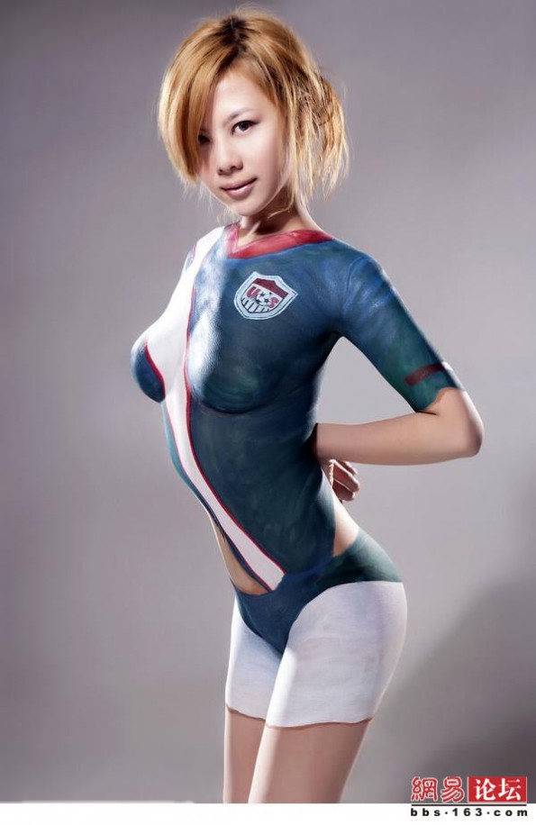 Hot Paint alternative fitspiration: thinspiration: body paint