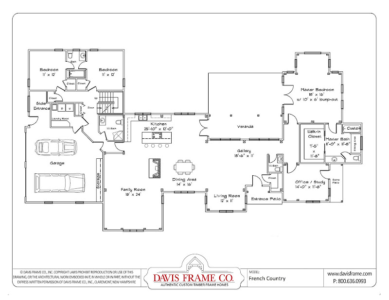 This Classic style ranch floor plan features a spacious layout with 2  title=