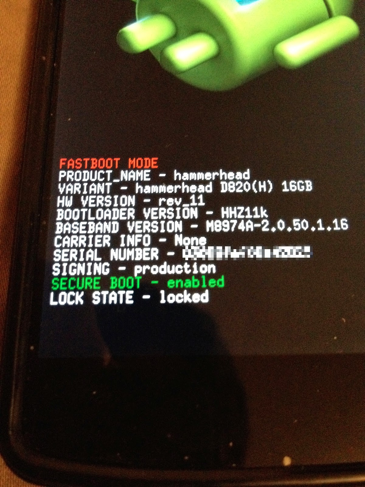 fastboot mode locked