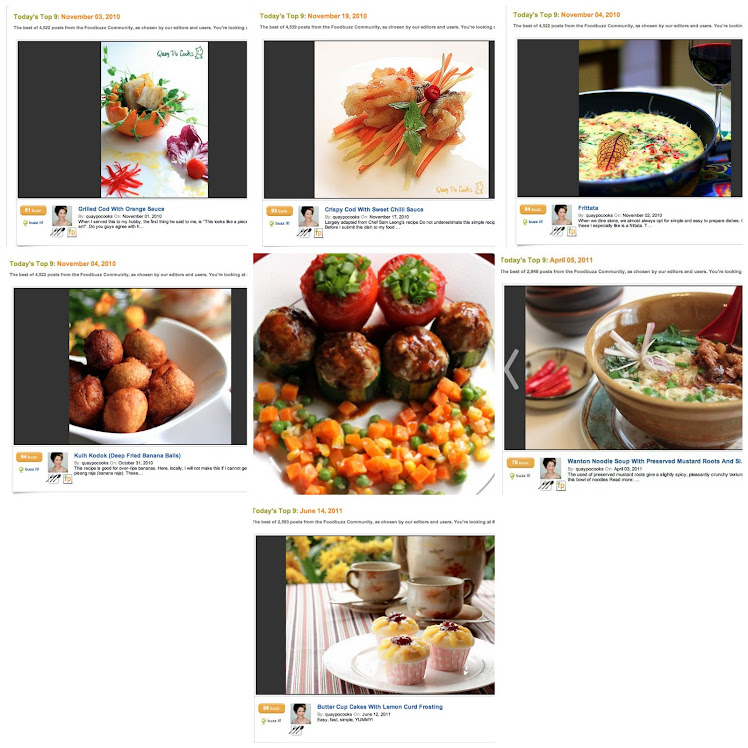 "MY DISHES SELECTED FOR ""TOP 9"" AT FOODBUZZ"