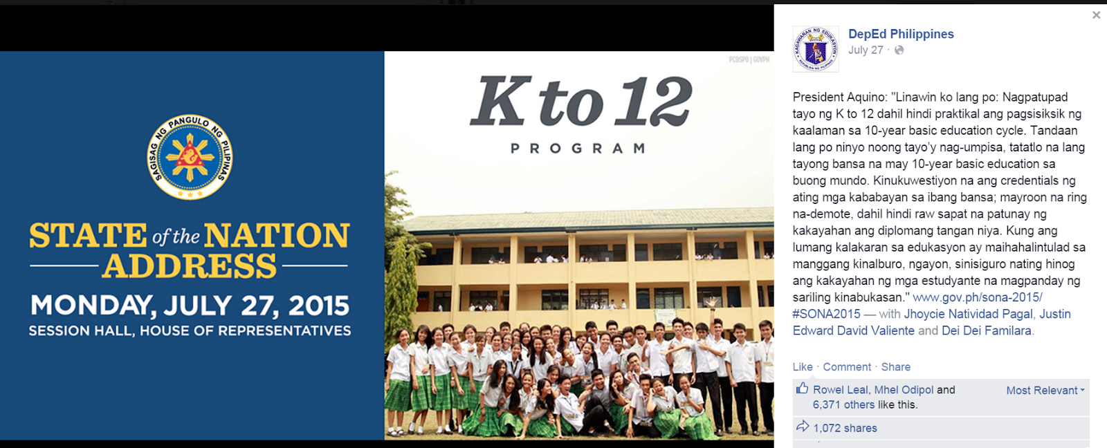 related studies on deped k 12 program in the philippines Educational profile of the philippines  music and social studies) 7)edukasyong pagpapakatao  distance learning program.