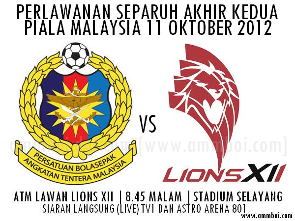Live Streaming ATM vs Lions XII 11 Oktober 2012