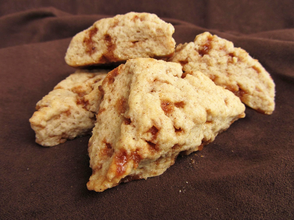 mini toffee scones