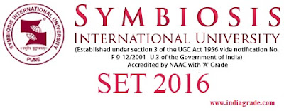 Symbiosis SET 2016 Application Form