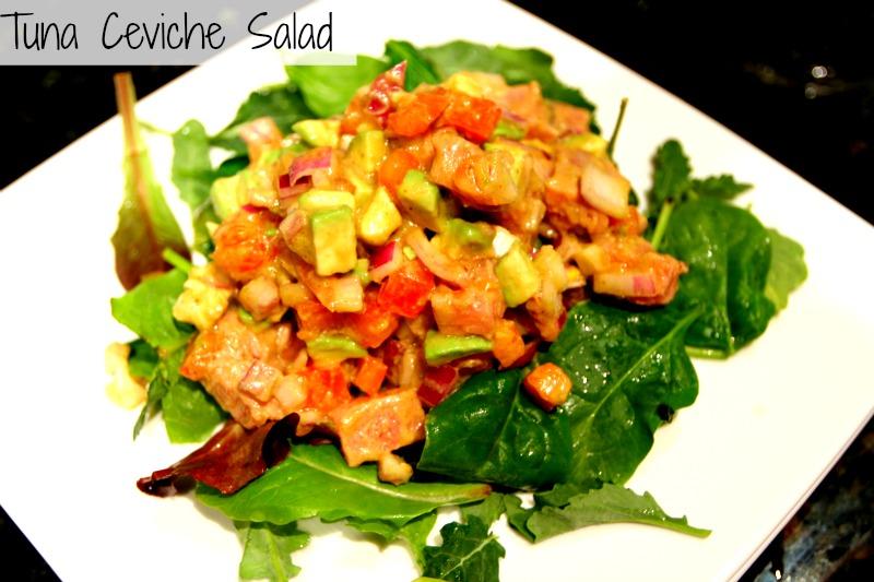 Spicy Tuna And Avocado Ceviche Recipe — Dishmaps