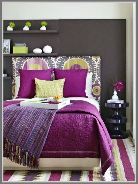 Interior Design Bedroom Colors, Purple Color For Women Bedroom That ...