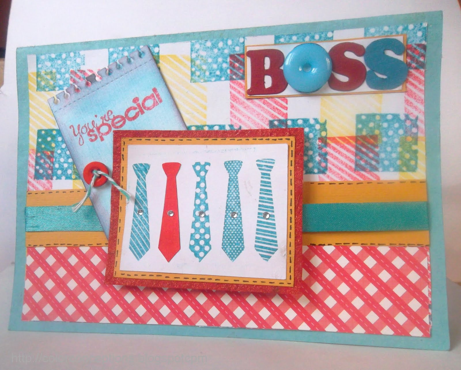 Color Conceptions Special Boss Masculine card and Foam texture – Birthday Card for the Boss