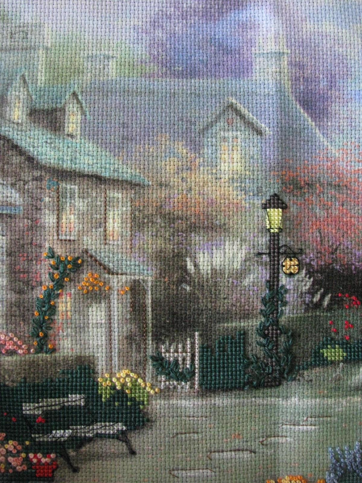 Схемы вышивки крестом картин художника Кинкейда 70