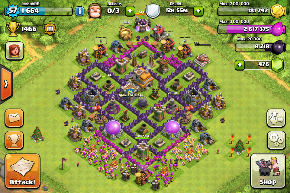 War base design air sweeper clash of clans coc setup 2 this th7 base