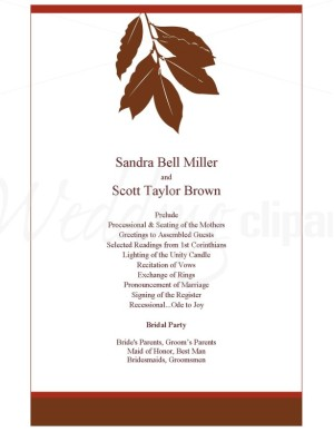Autumn Wedding Programs1